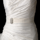Elegance by Carbonneau Belt-Brooch-3163 Belt with Antique Silver Clear Brooch 3163