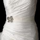 Elegance by Carbonneau Belt-Brooch-66 Belt with Silver Ivory Pearl & Rhinestone Flower Brooch 66