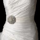 Elegance by Carbonneau Belt-Brooch-79-AB Belt with Silver Clear AB Swirl Rhinestone Brooch 79