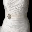 Elegance by Carbonneau Belt-Brooch-935 Bridal Belt Sash with Vintage Crystal Brooch 935