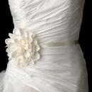 Elegance by Carbonneau Belt-Clip-418 Belt with Dahlia Flower Clip 418