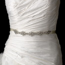Elegance by Carbonneau Belt-HP-8286 Vintage Satin Ribbon Belt or Headband 8286 with Clear Crystals