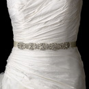 Elegance by Carbonneau Belt-HP-8287 Vintage Satin Ribbon Belt or Headband 8287 with Clear Crystals