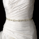 Elegance by Carbonneau Belt-HP-8362 Vintage Satin Ribbon Belt or Headband 8362 with Clear Rhinestones