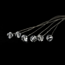 Elegance by Carbonneau BQ-301-Silver-Clear Bouquet Jewlery 301 Silver Clear ( Sold as Set of 6 )