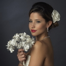 Elegance by Carbonneau BQ-401 Ivory and White Pearl Bouquet 401