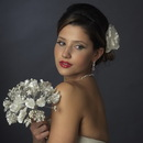 Elegance by Carbonneau BQ-402 Ivory and White Pearl Bouquet 402