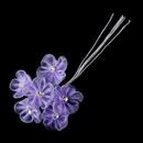 Elegance by Carbonneau BQ-4920-Lilac Lovely Lilac Flower & Rhinestone Bunch 4920