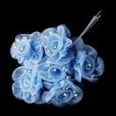Elegance by Carbonneau BQ-7016-Blue Blue Flower Bunch 7016