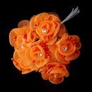 Elegance by Carbonneau BQ-7016-Orange Orange Flower Bunch 7016