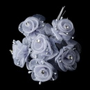 Elegance by Carbonneau BQ-7016-Silver Silver Flower Bunch 7016