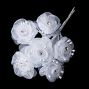 Elegance by Carbonneau BQ-7016-White White Flower Bunch 7016