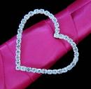 Elegance by Carbonneau BQ-Buckle-2154 Crystal Heart Buckle Accent for Bouquet Handle 2154