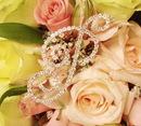 Elegance by Carbonneau BQ-Letter-P Bouquet Crystal Jewelry Letters