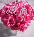 Elegance by Carbonneau BQ-Letters-XO Hugs & Kisses Crystal Rhinestone Bouquet Jewelry XO