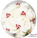 Elegance by Carbonneau BQ-Swirl-Red Red Crystal Swirl Bouquet Jewelry