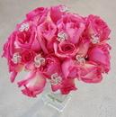 Elegance by Carbonneau BQ-Swirls-Pink Bouquet Jewelry Swirls with Pink Accent