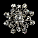 Elegance by Carbonneau Brooch-10-AS-Clear Elegant Vintage Crystal Bridal Pin for Hair or Gown Brooch 10 Antique Silver Clear
