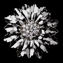 Elegance by Carbonneau Brooch-148-AS-Clear * Antique Silver Flower withe Rhinestone Center Brooch 148
