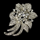 Elegance by Carbonneau Brooch-16-AS-Clear Elegant Vintage Crystal Bridal Pin for Hair or Gown Brooch 16 Silver Clear