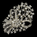 Elegance by Carbonneau Brooch-17-AS-Clear Elegant Vintage Crystal Bridal Pin for Hair or Gown Brooch 17 Antique Silver Clear