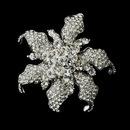 Elegance by Carbonneau Brooch-181-AS-Clear * Antique Rhinestone Flower Bridal Brooch 181 Silver or Gold