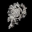 Elegance by Carbonneau Brooch-202-AS-Clear Antique Silver Clear Rhinestone Brooch 202
