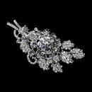 Elegance by Carbonneau Brooch-226-AS-Clear Antique Silver Clear Rhinestone Bouquet Brooch 226