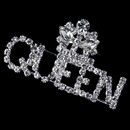 Elegance by Carbonneau Brooch-30113-S-CL Silver Clear Rhinestone Queen Brooch