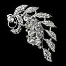 Elegance by Carbonneau Brooch-30495-AS-Clear Antique Silver Clear Rhinestone Brooch 30495