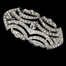 Elegance by Carbonneau Brooch-3163-AS-Clear Vintage Antique Silver Cubic Zirconia Bridal Brooch 3163