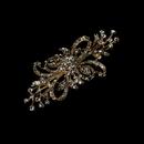 Elegance by Carbonneau Brooch-3268-Bronze-Clear Vintage Bronze Plated Clear Crystal Bridal Brooch 3268