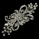Elegance by Carbonneau Brooch-3268-AS-Clear Vintage Silver Plated Clear Crystal Bridal Brooch 3268