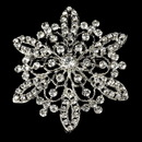 Elegance by Carbonneau Brooch-36-AS-Clear Vintage Rhinestone Bridal Brooch 36 Antique Silver with Rhinestones