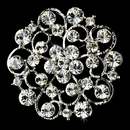 Elegance by Carbonneau Brooch-58-AS-Clear Brooch 58 Antique Silver Clear