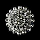 Elegance by Carbonneau Brooch-59-AS-Clear * Striking Antique Silver Clear Crystal Brooch 59