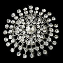 Elegance by Carbonneau Brooch-61-AS-Clear Sparkling Antique Silver Clear Brooch 61