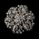 Elegance by Carbonneau Brooch-71-AS-Clear Brooch 71 Silver Rhinestone