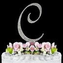 Elegance by Carbonneau C-Completely-Covered Completely Covered ~ Swarovski Crystal Wedding Cake Topper ~ Letter C