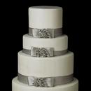 Elegance by Carbonneau Cake-Brooch-30495 Decorative Antique Silver Clear Rhinestone Leaf Grapevine Brooch 30495