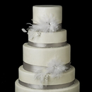 Elegance by Carbonneau Cake-Clip-4632 Decorative Jeweled Feather Fascinator Flower Clip 4632