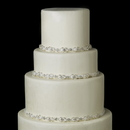 Elegance by Carbonneau Cake-HP-6469-S-Ivory Decorative Silver Ivory Pearl & Clear Rhinestone Satin Ribbon HP 6469