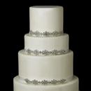 Elegance by Carbonneau Cake-HP-8286 Decorative Silver Clear Floral Rhinestone Satin Ribbon HP 8286