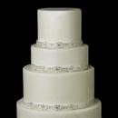Elegance by Carbonneau Cake-HP-8362 Decorative Silver Clear Swirl Rhinestone Satin Ribbon HP 8362