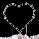 Elegance by Carbonneau CJ-1017-Heart Simple Crystal Accented Heart for Wedding or Anniversary Cake Top