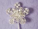 Elegance by Carbonneau CJ-3 Crystal Flower Cake Accent CJ 3