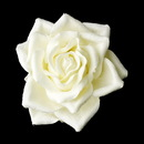 Elegance by Carbonneau clip-401-ivory Rose Bud Medium Hair Clip 401 ( White, Ivory or Red )
