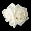 Elegance by Carbonneau Clip-412 Triple Flower Bridal Hair Clip 412 with Brooch Pin