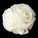 Elegance by Carbonneau Clip-419 Ivory X Large Garden Rose Cluster on Alligator Clip 419