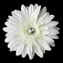 Elegance by Carbonneau Clip-422-Diamond-White Diamond White Starburst Dahlia Flower Hair Clip with Clip Brooch - Clip 422